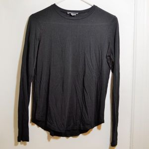 Vince Essential Long Sleeve Pima Tee
